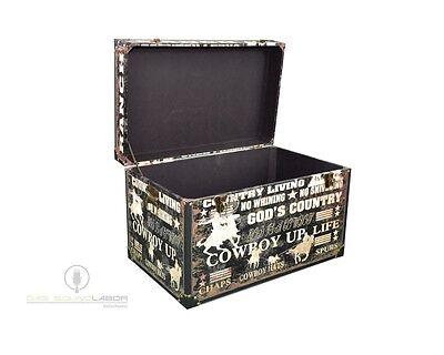 3er Set Kisten Cowboylook Aufbewahrung Box Kiste Truhe Wohnen Vintage NEU & OVP 4