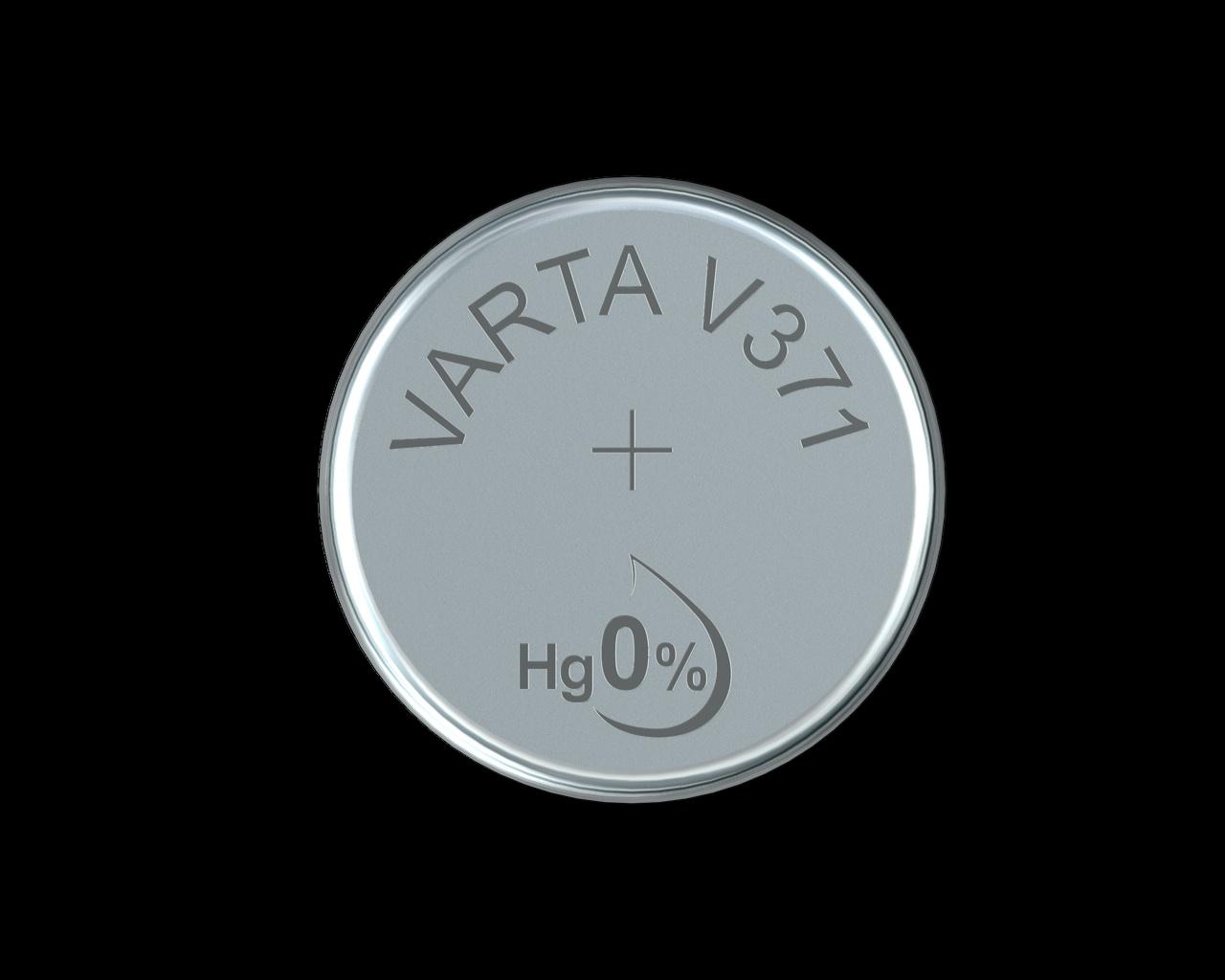 2x VARTA V 371 Knopfzellen Uhrenbatterie Knopfzelle V371 SR69 SR920SW SR920 AG6 2