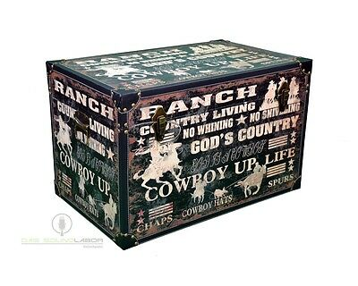 3er Set Kisten Cowboylook Aufbewahrung Box Kiste Truhe Wohnen Vintage NEU & OVP 3