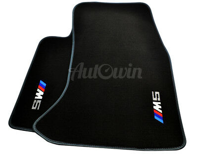 Floor Mats For BMW X1 Series E84 Black Rounds With ////// Power Emblem LHD NEW