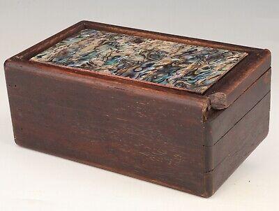 China Wooden Jewelry Box Organ Box Old Mosaic Shell Craft Collection Gift 2