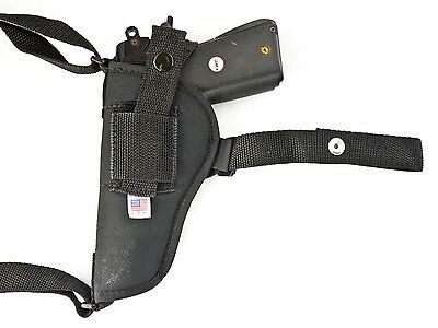 S&W 745  45 ACP | Nylon Horizontal Shoulder Holster w/ Double Mag Pouch