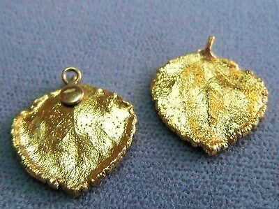 Vintage beautiful gold plated leaf pendant earrings set estate 2 of 6 vintage beautiful gold plated leaf pendant earrings set estate jewelry aloadofball Choice Image
