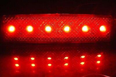 40 Stück x 6 LED 24v LKW Rot Weiß Orange Leuchte Lampe Begrenzungsleuchte Blau