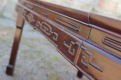 Vintage Chinese Rosewood and Mother-of-Pearl Dining Table 5