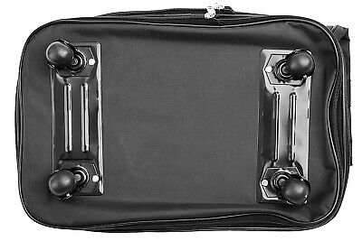 """30"""" Rolling Wheeled Duffel Bag Spinner Suitcase Luggage Expandable in Black 7"""