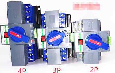 New 1pc 63A 3P Dual power automatic transfer switch Mini