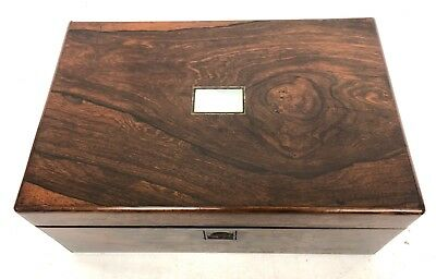 Antique Rosewood & Mother of Pearl Inlaid Writing Box / Slope for Restoration 2