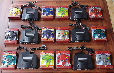 N64 Nintendo 64 Console + UP TO 4 NEW CONTROLLERS + Cords + CLEANED INSIDE & OUT 2