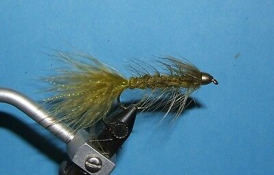 Woolly Bugger - cone head - 15 streamers- 4 colors. 4