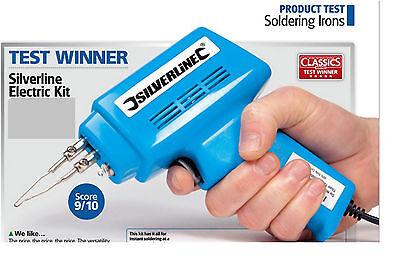 Electrical Soldering Kit Set 30W Iron & 100W Gun Solder Stand Tool & Case