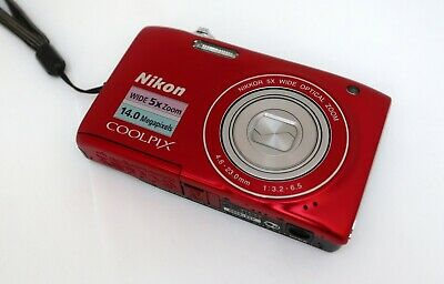 NIKON COOLPIX S3100 14mp 4,6-23,0mm. Wide 5x zoom Nikkor HD movie 2,7-in LCD VR 2