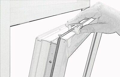 Alu Jalousie Aluminium Jalousette Klemmträger Fenster Rollo Lamelle Weiß Silber 8