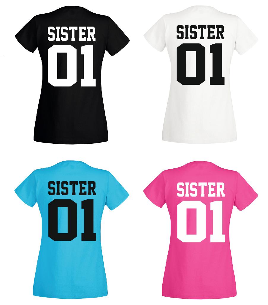 Brother & Sister - T Shirt Set - Geschwister Beste Freunde Bruder - DOPPELPACK - 8