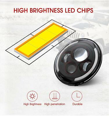 DOT Pair 7 Inch CREE LED Headlights Halo Angle Eye For Jeep Wrangler JK TJ CJ LJ 10