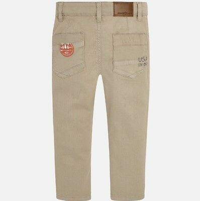 New Boys Mayoral Chino Trousers Slim Fit , Age 2 Years , (4534) 2