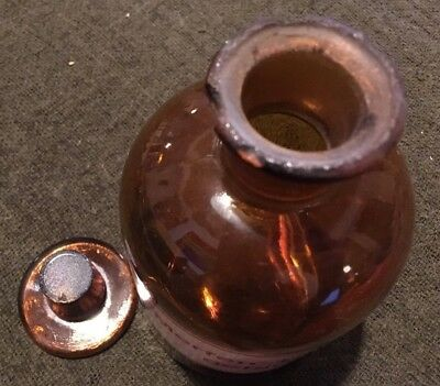 altes Apothekengefäß - Braunglas - Merfen-Tinktur gefärbt - Höhe 16 cm 4