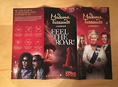 Madame Tussaud's London Fold Out Map & Promotional Flyer 2017 Kong Skull Island 5