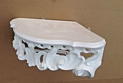 Wall Console Antique White Barok Shelf 38x28 Mirror Corner Flower Stand 5