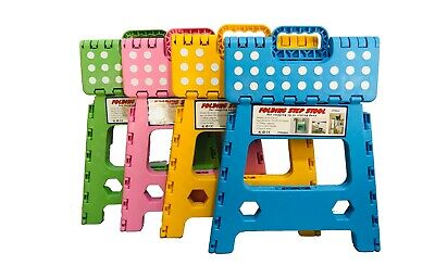 Heavy Duty Plastic Step Stool Foldable Multi Purpose Home Kitchen Use 7
