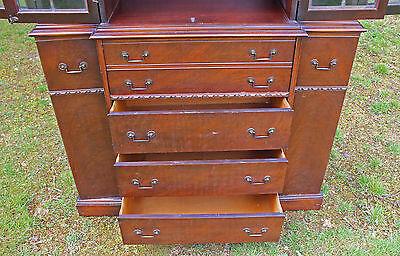 18th Century Style Mahogany Secretaire Bookcase Maddox Furniture Co Jamestown NY 4