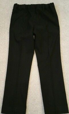 M&S girls lovely smart black Fitted trousers Age 7-8Yrs in vgc as shown 4