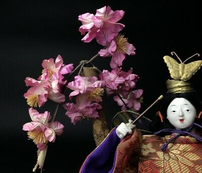 Antique NINGYO Japanese Doll Playing Drums KABUKI Butterfly Dance 4