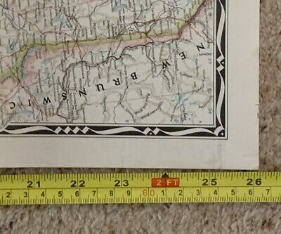 Vintage 104 x 66cm 1945 National Geographic Map NORTHEASTERN UNITED STATES USA 9