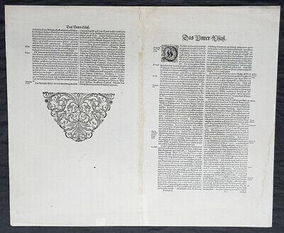 1638 Gerard Mercator & Henricus Hondius Antique Map of Alsace Region, France 3