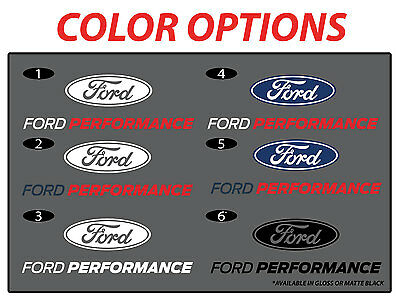 New Mustang Ford Performance 8 In Vinyl Decal Sticker
