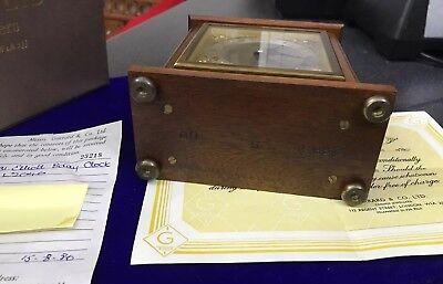 Vintage Garrard & Co Ltd London Elliot Mahogany 8 Day Oak Mantle Carriage Clock 12