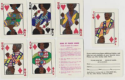 "Beautiful RARE 1973 BLACK AMERICANA ""SOUL"" Playing Cards / Sealed 44 years N O S"