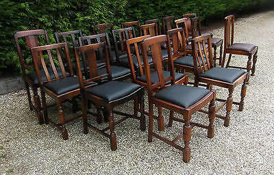 LARGE COLLECTION OF OAK 1920s DINING CHAIRS - IDEAL FOR PUBS, RESTAURANTS ETC 6