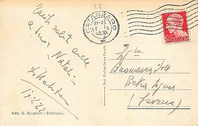 5346) Catanzaro Rione Milano. Animata, Automobile. Viaggiata Nel 1942. 2