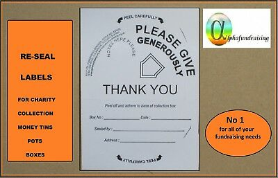 CHARITY DONATION COLLECTING MONEY TIN/POT/BOX/LABELS P&P INCL+LABELS FROM 99p 5