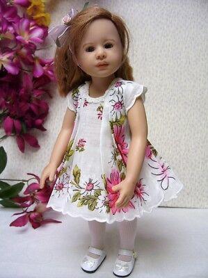"""Hanky Dress, Hat  PATTERN for 10"""" to 16"""" Dolls  Little Darling,  Bleuette, 11"""