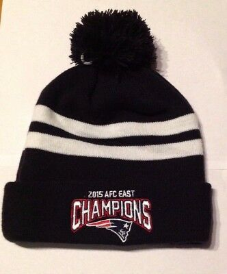 defbced49 ... NEW ERA New England Patriots Pom Beanie Knit Hat AFC Champions Super  Bowl Brady 5