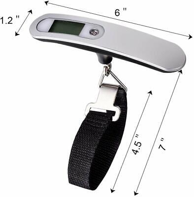Portable Travel LCD Digital Hanging Luggage Scale Electronic Weight 110lb / 50kg 7