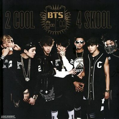 US SHIPPING BTS[2 COOL 4 SKOOL]1st Single CD+Booklet+Card+Tracking K-POP 3