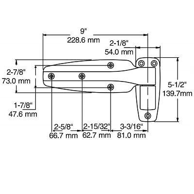 2x Heavy Duty Coolroom Door Hinges Self Closing Reversible Reach-in 0mm offset 2