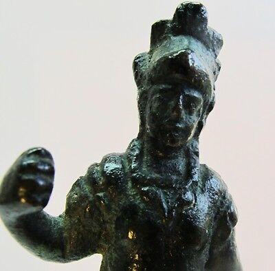 Rare ANCIENT ROMAN BRONZE Sculpture of Gladiator c. 300 AD  Antique Wood Stand 5