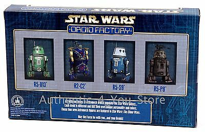 Star Wars Celebration Disney Parks Droid Factory 4 Pack R5-013 R2-C2 R5-S9 R5-P8 2