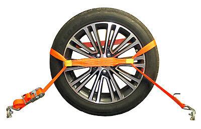 4x Spanngurt AUTO TRANSPORT  Zurrgurt Radsicherung PKW KFZ Trailer Anhänger (21) 5