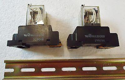 2 Omron Ly4N 24 Vdc, Contact W/Rj(Sa) Max. 10A240V 1991Y4. With Weidmuller Metal 3