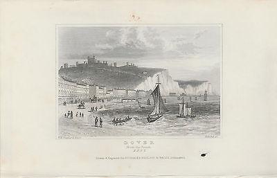 1846 Six Antique Prints- KENT -Dartford, Dover, Northfleet, Gravesend, Penshurst 2