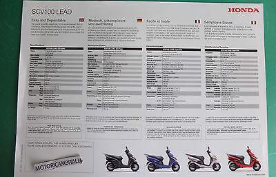 Honda Scooter Lead 100 Scv Ricambi Pubblicita Depliant Brochure