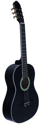 Guitarra Clasica Española NEGRA. Nueva. Tamaño de Adulto 4/4. Color Negro