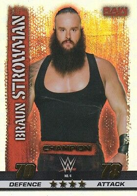 WWE Slam Attax TCG Tenth Edition Champion Rainbow Foil Cards 10th