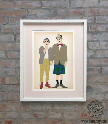 VIC & BOB (The Stotts) Reeves & Mortimer Minimalist Movie Poster Posteritty Art