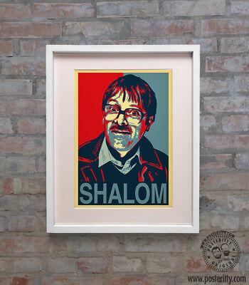 JIM (Friday Night Dinner) SHALOM Minimalist Hope Poster Posteritty Print Jackie